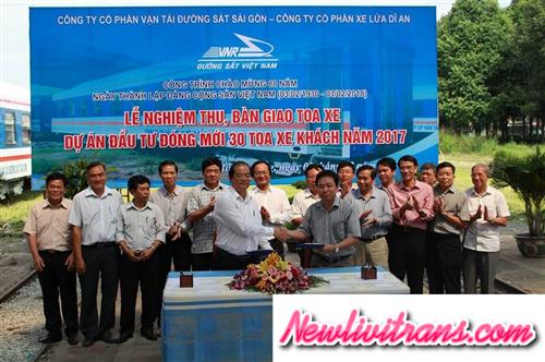 Công Ty Cổ Phần VTĐS Sài Gòn đưa vào khai thác nhiều toa xe đóng mới, giá vé không tăng